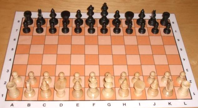 Aufbau Schachbrett