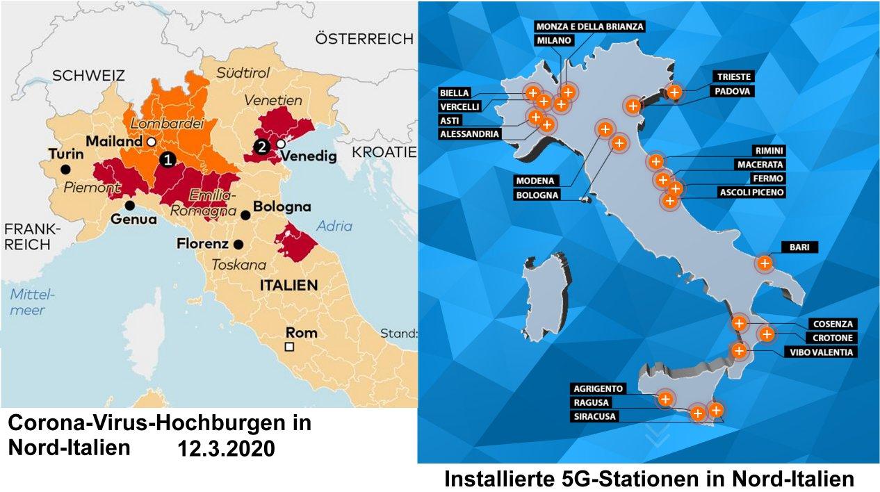 Hohe Todeszahlen in Italien durch 5G und nicht durch Corona-Virus?